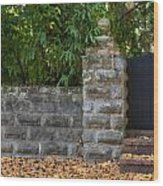 Stone Wall And Gate Wood Print