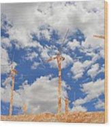 Stone Wind Mills Wood Print