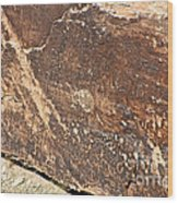 Stone Written Wood Print
