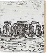 Stonehenge Wood Print by Anthony Fox