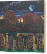 Stonehenge At Cathedral Rock Wood Print