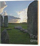 Stonehenge At Dusk Wood Print