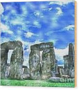 Stonehenge In The English County Of Wiltshire  Wood Print