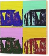 Stonehenge Pop Art Wood Print