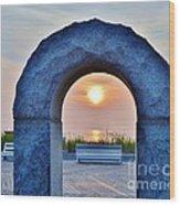 Sunrise Through The Arch - Rehoboth Beach Delaware Wood Print