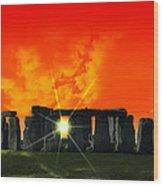 Stonehenge Solstice Wood Print