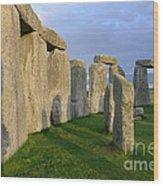 Stonehenge Stones Wood Print
