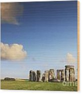 Stonehenge Summer Evening Wood Print by Colin and Linda McKie
