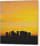 Stonehenge Sunset Wood Print