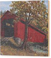Stonelick Williams Corner Covered Bridge Clermont County Ohio 2 Wood Print