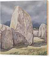 Stones Of Castlerigg Wood Print