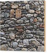 Stones Wall Wood Print