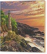 Stoney Cove Lighthouse Wood Print