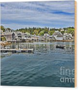 Stonington In Maine Wood Print