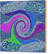 Stool Pie Chart Twirl Tornado Colorful Blue Sparkle Artistic Digital Navinjoshi Artist Created Image Wood Print