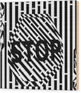 Stop Sign Maze Wood Print