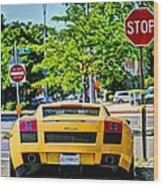 Stop Signs Are Wrong Wood Print by JC Findley