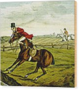 Stopping At Water From Qualified Horses And Unqualified Riders Wood Print
