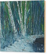 Stopping By Woods On A Snowy Evening Wood Print