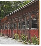 Storage Building Wood Print
