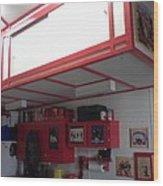 Storage Loft In Studio Wood Print
