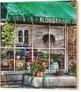 Store - Florist Wood Print