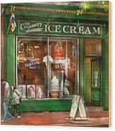 Store Front - Alexandria Va - The Creamery Wood Print