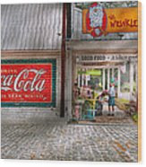 Store Front - Life Is Good Wood Print by Mike Savad