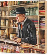 Store - In The General Store Wood Print by Mike Savad