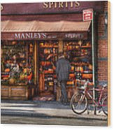 Store - Wine - Ny - Chelsea - Wines And Spirits Est 1934  Wood Print by Mike Savad