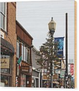 Storefront Shops In Truckee California 5d27490 Wood Print