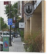 Storefronts In Historic Railroad Square Area Santa Rosa California 5d25806 Wood Print
