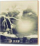 Storm And Flood Wood Print