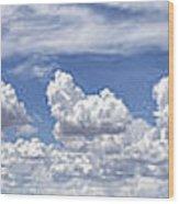 Storm Approaching Panorama Wood Print