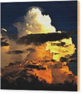 Storm At Dusk Wood Print by David Lee Thompson