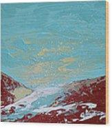 Storm At Red Rock Ridge Wood Print