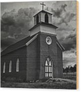 Storm At San Rafael Church Wood Print