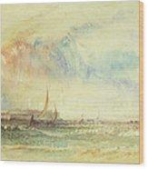 Storm At Sunset, Venice, C.1840 Wood Print