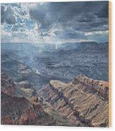 Storm At The Canyon Wood Print