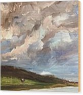 Storm Brewing Wood Print