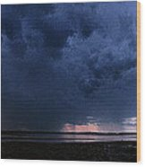 Storm Cell Over Lubec Maine Wood Print
