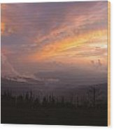 Storm Clearing At Sunset Wood Print