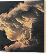 Storm Cloud Menacing Wood Print