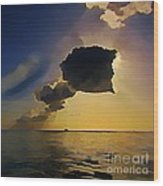 Storm Cloud Over Calm Waters Wood Print by John Malone