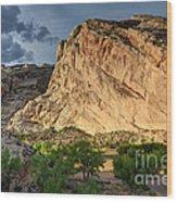 Storm Clouds Above Split Mountain Dinosaur National Monument Wood Print