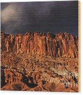 Storm Clouds Capitol Reef National Park Utah Wood Print