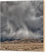 Storm Clouds Wood Print by Cat Connor