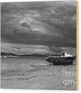 Storm Clouds Coming Wood Print