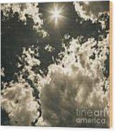 Storm Clouds Gathering Wood Print
