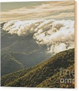 Storm Clouds Moving Out On The Blue Ridge Wood Print